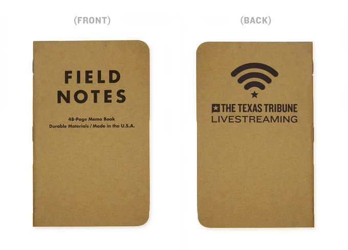 Tribune Livestream Field Notes notebook