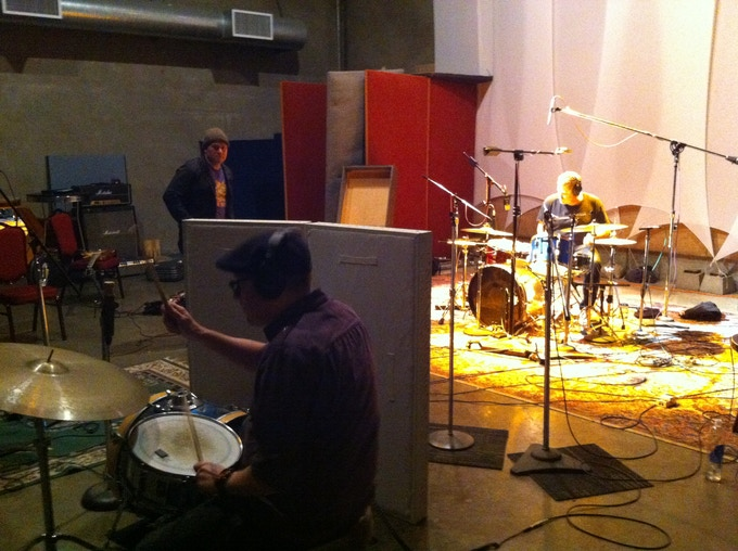 "Double drums on the first track ""Speak To Me"": not just for hippies anymore!"