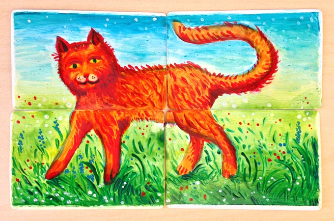 Four cards show a cat with four legs. However...