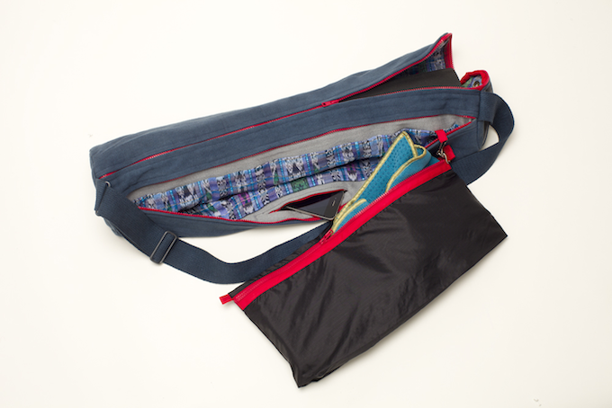 """398fdb6fb861 A revolutionary """"around the corner"""" zipper sets the Soulwares yoga mat bag  apart from the rest"""