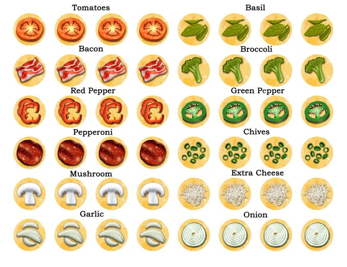 It's just a picture of Terrible Printable Pizza Toppings