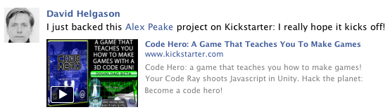 Code Hero: A Game That Teaches You To Make Games by Alex