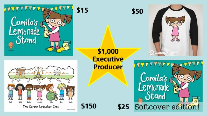 Great rewards for backers of Camila's Lemonade Stand!