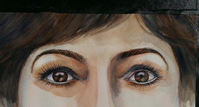 $250.00 reward! large portrait of your eyes, matted with sleeve, ready to hang