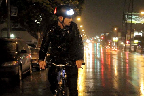 Torch Bicycle Helmet With Integrated Lights By Nathan