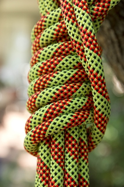 "Example of a ""Limited Edition"" pre-consumer rope from BlueWater. These ropes may look and feel brand new because they never made it to consumer shelves. It's up to you to give it a storied life!"