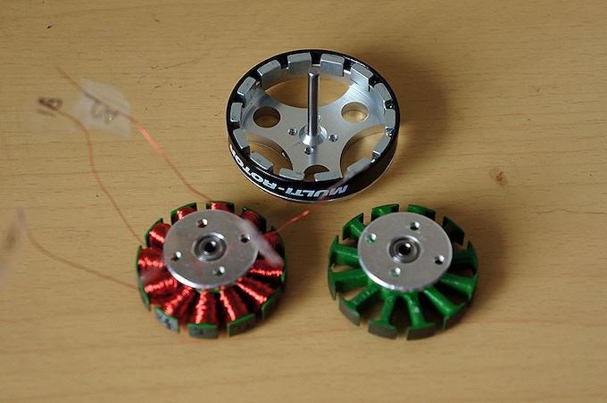 Modified brushless motors