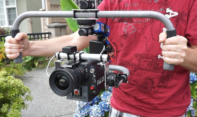Heavy-weight gimbal prototype with RED Epic