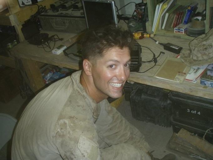 Sgt. Dan Patron in Afghanistan