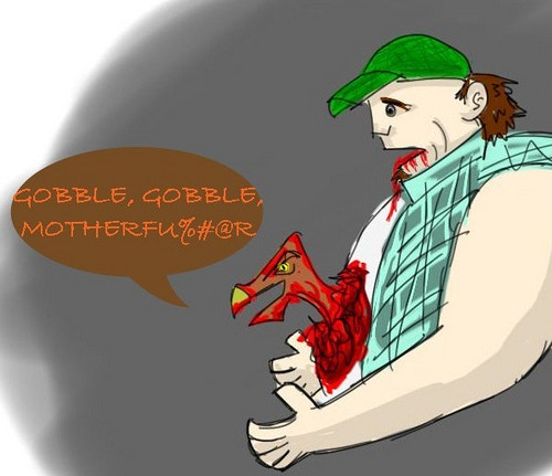 He Is Coming For Sure Horror Movie Quote: Killer Turkey Movie Sequel! By Jordan