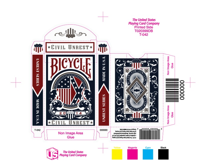 Civil Unrest Custom Playing Cards By Uspcc By Rj Tomlinson