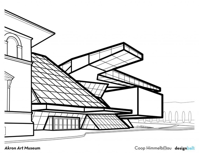 cleveland architecture coloring book by Jeremy Smith