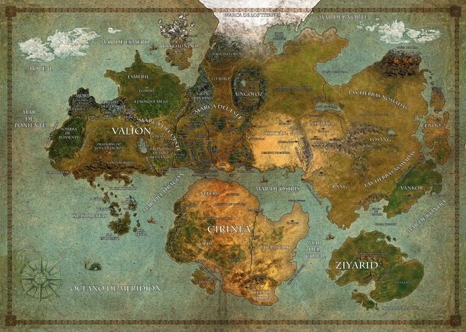 The Setting World Map, available in the Blue Box