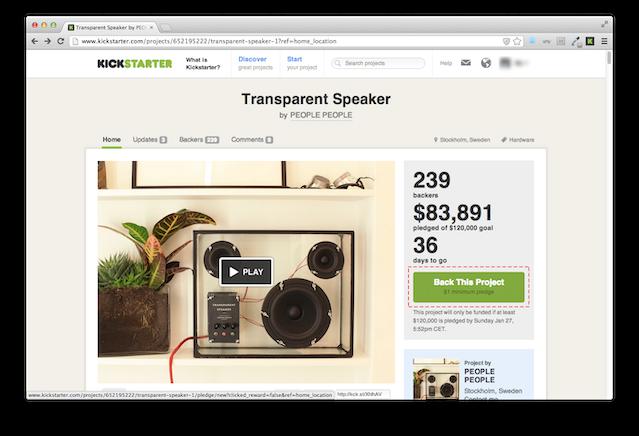Transparent Speaker By PEOPLE PEOPLE » WALKTHROUGH #001