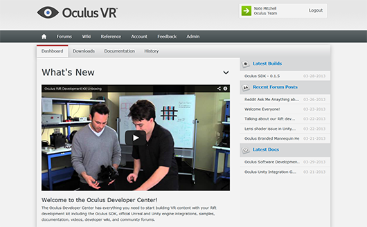 Oculus Rift: Step Into the Game by Oculus » Development Kits are