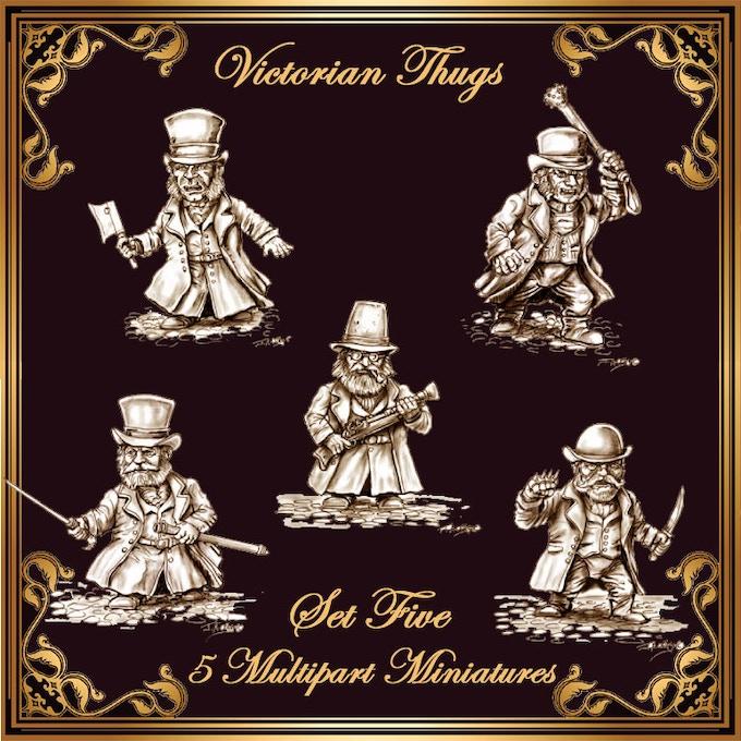 Set 5: 5 Victorian Scrunt Thugs