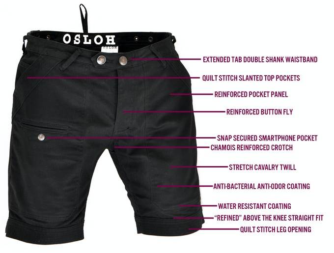 Shift Short Features (front view)