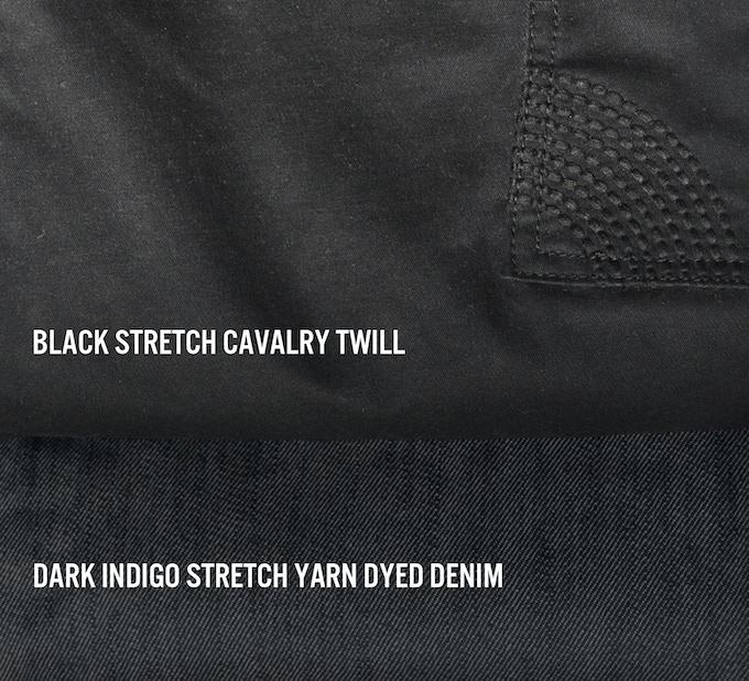 Shift Short is available in Black Cavalry Twill and Dark Indigo Denim