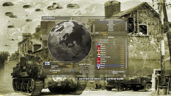 Choose any Nation in Sandbox Mode