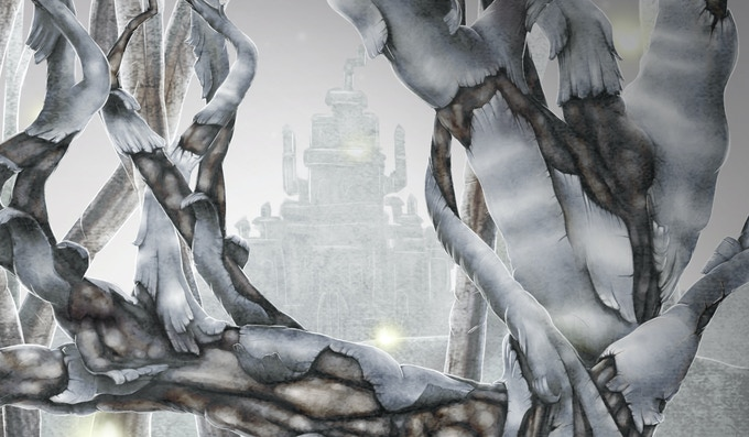 Close up 2 on Cinderella's fully rendered illustration