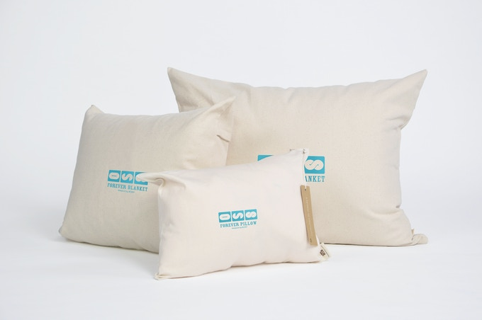 Infinity Pillow comes in a compact, custom designed pillow case for traveling.