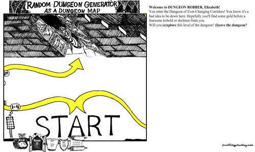 Random Dungeon Generator as a Dungeon Map by Paul Hughes