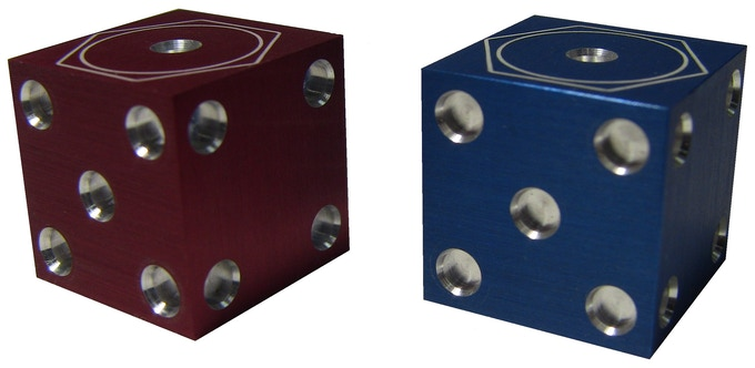 Aluminum Anodized Red and Blue