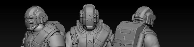 Optional helmet for the Colonial Troopers