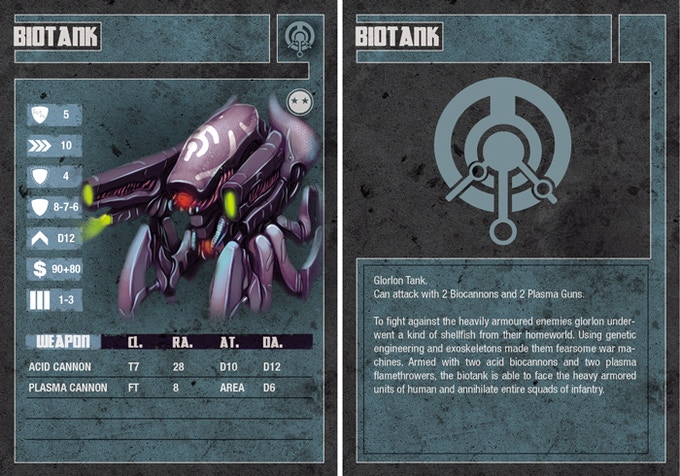 Biotank unit card (front and reverse)