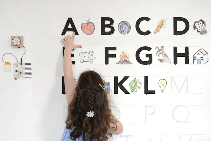 The Touch Board turned our wall into a talking alphabet.