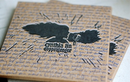 example of letterpressed cd, lovingly handprinted by cynthia.
