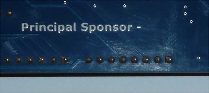 Add you name to the board as our main sponsor
