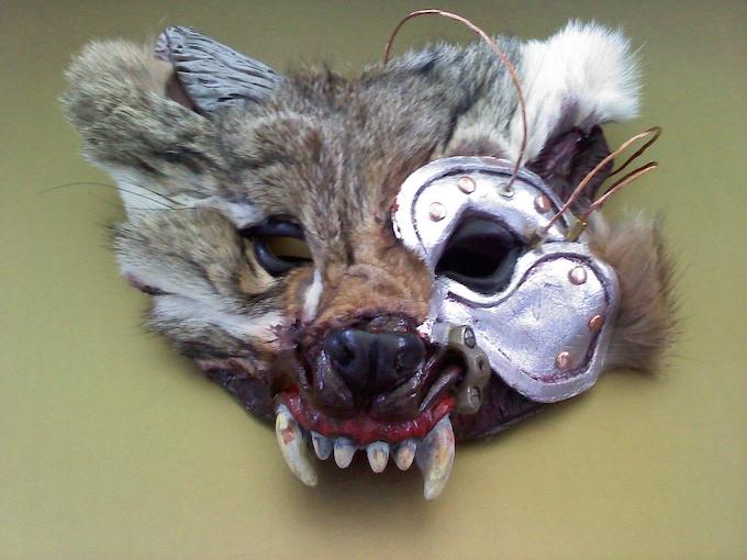 Werewolf mask, work-in-progress.