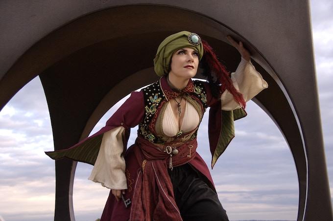 Alisa's Steampunk Ottoman costume. Photo by Tyson.