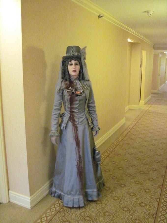 Alisa in her Victorian Ghost Costume.