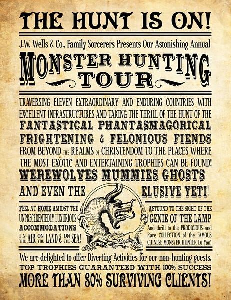 Monster Hunting Tour Postcard