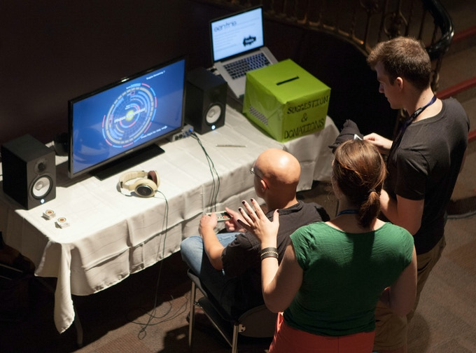 Play testing Sentris at the Seattle Indies Expo
