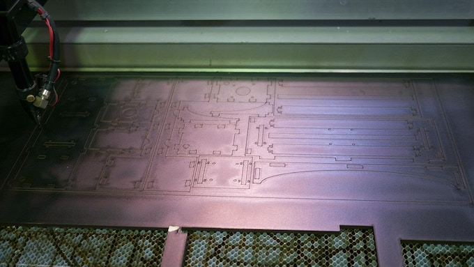 Full Laser Cut Frame of All Nested Parts