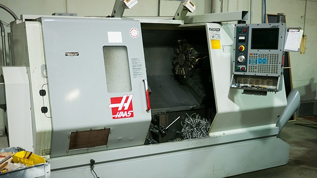 """Our Haas CNC Lathe ...it has a 16"""" Chuck!"""