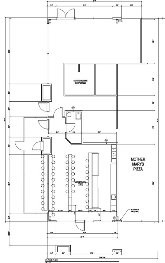 House of pendragon brewing co brewery taproom project by for Brewery floor plan