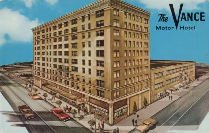 Drawing of the Old Vance Hotel