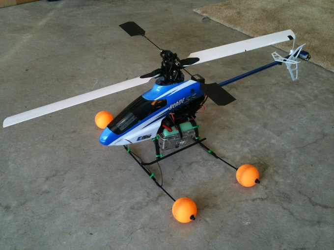 Experimentation with 300 size standard RC heli