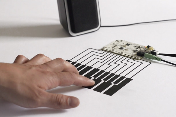 With simple changes the Touch Board can also be used as a Midi interface