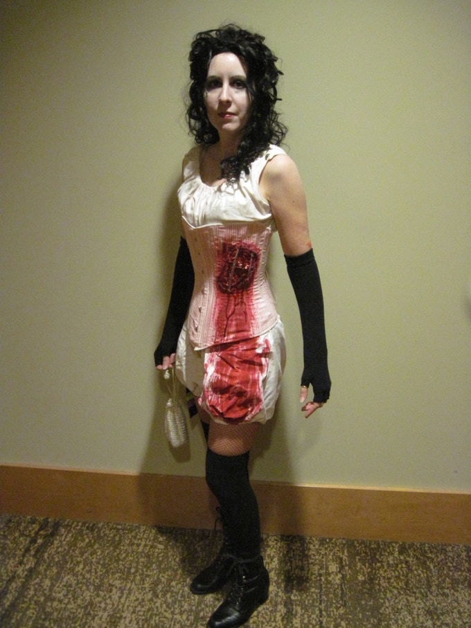 Alisa wearing her Zombie costume!