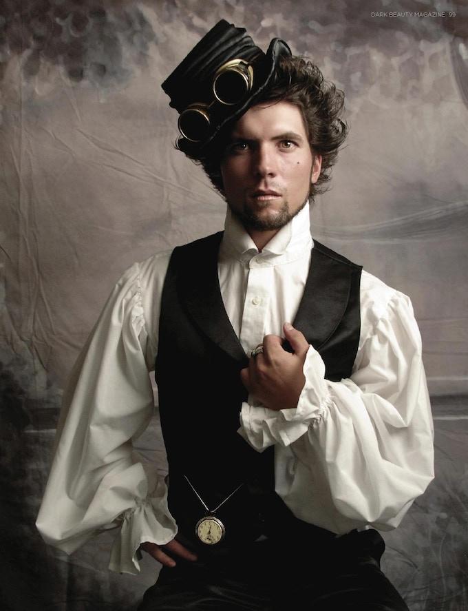 A steampunk gentleman, photo by Tyson Vick.