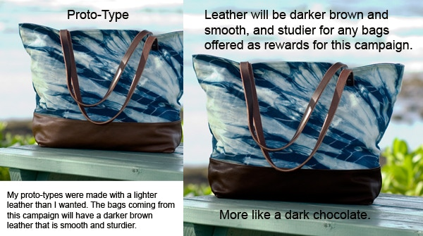 Prototype leather color vs actual bag leather color
