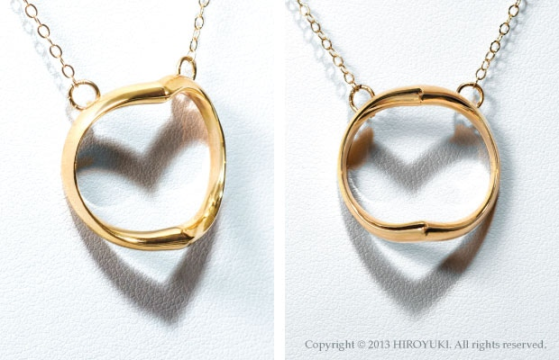 The Shadow Heart Necklace made of 18K Gold. (Gold chain)