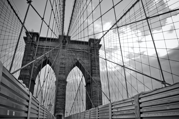 "Brooklyn Bridge (The limited-edition hand-signed 24 x 36"" photograph not featured in the book from the $350 reward)"