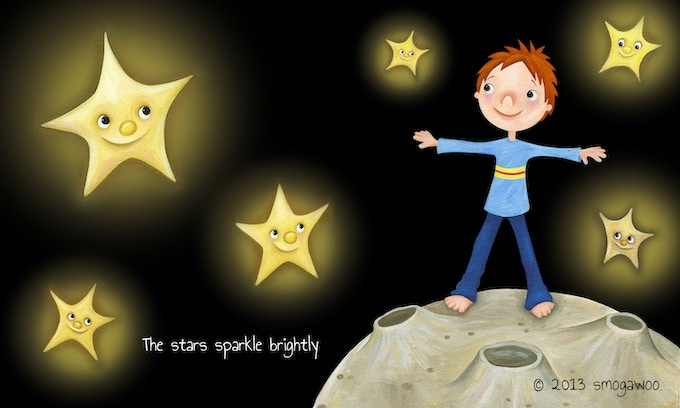 Opening to the universe in star pose.