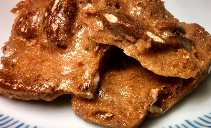 Spiced Pecan Brittle - If you like spice cake, this confection will probably be your first choice. Warm, winter time spices like cinnamon and clove infuse this candy, highlighting the rich, buttery crunch of whole pecans.